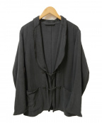 COMOLI()の古着「シルクネップ スモーキングジャケット」|ブラック