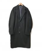 +J(プラス ジェイ)の古着「カシミアブレンドオーバーサイズチェスターコート」|ブラック