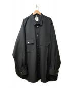 ()の古着「オーバーサイズシャツジャケット」|ブラック
