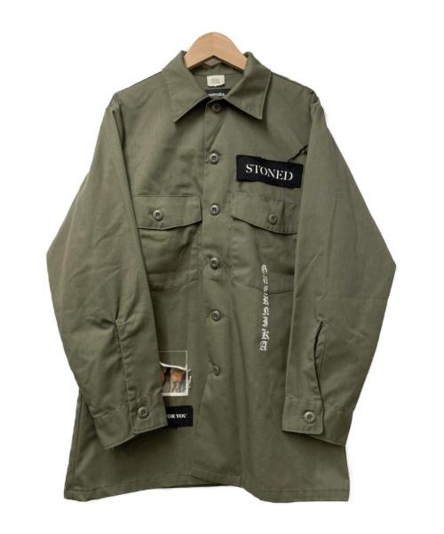 guernika(ゲルニカ)guernika (ゲルニカ) リメイクミリタリーシャツ カーキ サイズ:15 1/2×31 80s US.ARMY ユーティリティシャツベースの古着・服飾アイテム