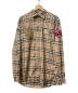 BURBERRY(バーバリー)の古着「ロゴグラフィックヴィンテージチェックシャツ」|ベージュ