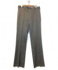 BAN ROL (バンロル) [OLD]70'sチェックスラックス グレー サイズ:38 70年代 デッドストック アメリカ製
