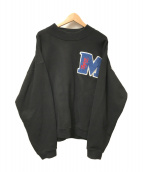 M.E.D.M(EXPIRY DATE×KNOWKNOW)(エムイーディーエム)の古着「クルーネックスビッグウェット」|ブラック