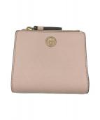 TORY BURCH(トリーバーチ)の古着「2つ折り財布」|ピンク