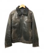 OLD GAP(オールドギャップ)の古着「[OLD]オールドカウレザージャケット」|ブラック