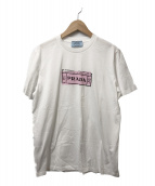 PRADA(プラダ)の古着「ロゴプリントTシャツ」|ホワイト