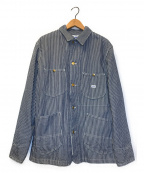 LEE()の古着「ダンガリーロコデニムジャケット」|ネイビー×ホワイト