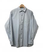Phlannel(フランネル)の古着「ストライプL/Sシャツ」 スカイブルー