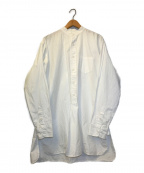 HOUSTON(ヒューストン)の古着「プルオーバーL/Sバンドカラーシャツ」 ホワイト