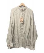 ()の古着「別注リネンシャツジャケット」|ベージュ