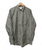 STUDIO NICHOLSON(スタジオニコルソン)の古着「オーバーサイズストライプシャツ」|グリーン