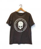 NUMBER (N)INE(ナンバーナイン)の古着「ダメージ加工スカルプリントTシャツ」 ブラウン
