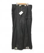 TUKI(ツキ)の古着「オーバーイージーワイドパンツ」 ブラック