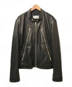 Maison Margiela 14(メゾンマルジェラ14)の古着「5ZIP八の字ラムレザーライダースジャケット」 ブラック