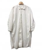 VINTAGE MILITALY(ヴィンテージ ミリタリー)の古着「[OLD]ヴィンテージミリタリーロングシャツコート」|ホワイト