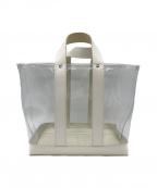 MASTER&CO.(マスターアンドコー)の古着「レザー切替PVCクリアハンドバッグ」|クリア×ホワイト