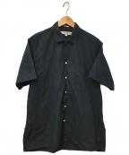 INDIVIDUALIZED SHIRTS(インディビジュアライズドシャツ)の古着「S/Sオープンカラーシャツ」|ブラック