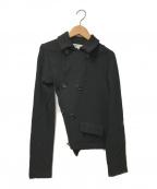 COMME des GARCONS COMME des GARCONS()の古着「ねじれウールダブルジャケット」|ブラック