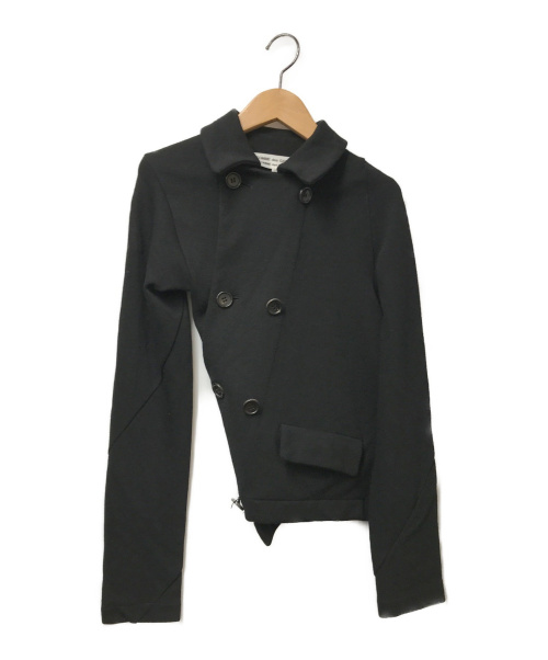 COMME des GARCONS COMME des GARCONS(コムデギャルソン コムデギャルソン)COMME des GARCONS COMME des GARCONS (コムデギャルソン コムデギャルソン) ねじれウールダブルジャケット ブラック サイズ:SS RS-J007 AD2006 コムコムの古着・服飾アイテム