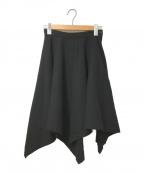 tricot COMME des GARCONS()の古着「90sデザインウールスカート」|ブラック