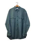 green label relaxing(グリーンレーベルリラクシング)の古着「ドライオーガニックツイルCPOシャツ」|グリーン