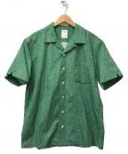 RHC Ron Herman(RHCロンハーマン)の古着「総柄S/Sオープンカラーシャツ」|グリーン