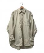 BURLAP OUTFITTER(バーラップアウトフィッター)の古着「ルーズフィットナイロンL/Sシャツ」|ベージュ