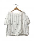 mina perhonen(ミナ ペルホネン)の古着「chouchoブラウス」|ホワイト