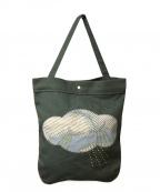 mina perhonen(ミナ ペルホネン)の古着「雲デザイントートバッグ」|黄緑