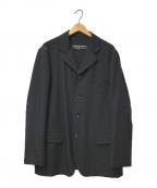 COMME des GARCONS HommePlus()の古着「90sウールギャバジン4Bジャケット」|ネイビー