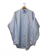 BEAMS(ビームス)の古着「ヘビーオックスイージーボタンダウンシャツ」 スカイブルー×ホワイト