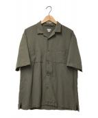 THE NORTH FACE(ザ ノース フェイス)の古着「オープンカラーポケットS/Sシャツ」 カーキ
