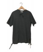 YohjiYamamoto pour homme(ヨウジヤマモトプールオム)の古着「コードデザインTシャツ」 ブラック