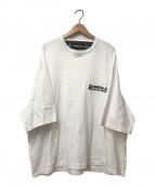 ANREALAGE(アンリアレイジ)の古着「オーバーサイズワンポイントTシャツ」|ホワイト
