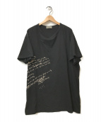 YohjiYamamoto pour homme(ヨウジヤマモトプールオム)の古着「リリック抜染プリントカルティマ天笠Tシャツ」 ブラック