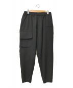 YohjiYamamoto pour homme(ヨウジヤマモトプールオム)の古着「アーミーギャバジンワイドリブパンツ」 ブラック