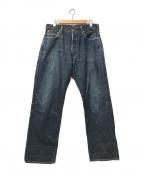 EVISU(エビス)の古着「シンチバックセルビッチデニムパンツ」|インディゴ