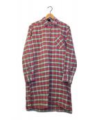 ()の古着「[OLD]オールドチェックグランパシャツ」|レッド