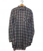 VINTAGE(ヴィンテージ)の古着「[OLD]オールドチェックグランパシャツ」|グレー