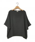 ENFOLD(エンフォルド)の古着「サマーコットン2ワイドTシャツ」 ブラック