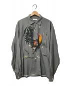 flagstuff(フラグスタフ)の古着「L/Sオープンカラーシャツ」 グレー