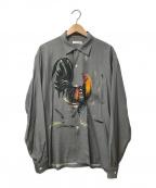 flagstuff()の古着「L/Sオープンカラーシャツ」|グレー