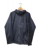 MAMMUT(マムート)の古着「Gliderウィンドブレーカーフーデッドジャケット」 ネイビー