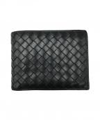 BOTTEGA VENETA()の古着「2つ折り財布」|ブラック