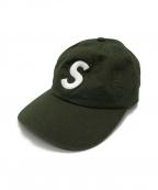 SUPREME()の古着「Sロゴ6パネルキャップ」|グリーン