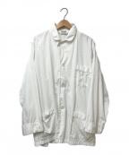 Christian Dior LE CONNAISSEUR()の古着「ロングスリーブパジャマシャツ」|ホワイト