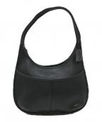 COACH()の古着「[OLD]レザーワンショルダーバッグ」|ブラック