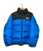 ()の古着「リバーシブルダウンジャケット」|ブラック×ブルー