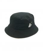 FR2(エフアールツー)の古着「ロゴパッチバケットハット」 ブラック