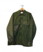 CAL O LINE(キャルオーライン)の古着「ユーティリティファテーグシャツ」 カーキ